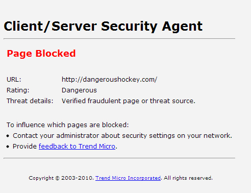 Did NHL's Labor Issues cause Google to BAN Dangeroushockey.com? (2/2)